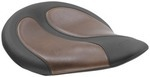 CYCLONE SOLO SEAT WITH BROWN DISTRESSED INSERTS