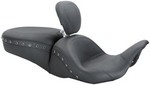1-PIECE LOWDOWN TOURING SEAT WITH DRIVER BACKREST - BLACK STUDS