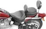 WIDE TOURING VINTAGE SOLO SEAT WITH DRIVER BACKREST