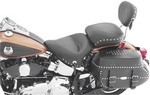 STUDDED SPORT SOLO SEAT WITH BACKREST - CHROME STUDS