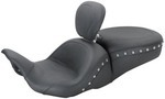 1-PIECE LOWDOWN TOURING SEAT WITH DRIVER BACKREST - CHROME STUDS