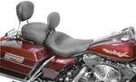 WIDE STUDDED SOLO SEAT WITH DRIVER BACKREST - BLACK STUDS