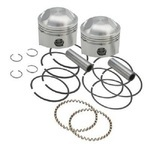 FORGED PISTON KIT (74CI.) - STANDARD BORE 3 7/16IN. +.010.,8:1 LOW COMPRESSION